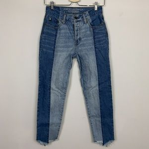 AEO Jean Vintage Hi Rise Blue Sz: OR